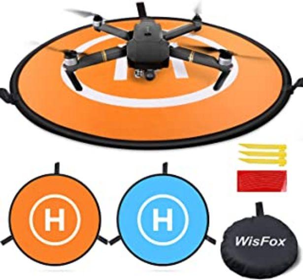 Oferta de Drone Landing Pad, WisFox Universal Waterproof D 75 cm / 30 '' Pads portátiles de aterrizaje plegables para RC Drones Helicopter, PVB Drones, DJI Mavic Pro Phantom 2/3/4 Pro, Antel Robotic por 16,99€