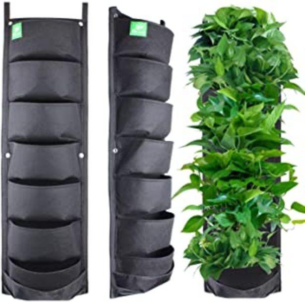 Oferta de MEIWO Nuevo actualizado 7 Bolsillo Colgante jardín Vertical jardín plantador de jardinería jardín decoración del hogar por 11,99€