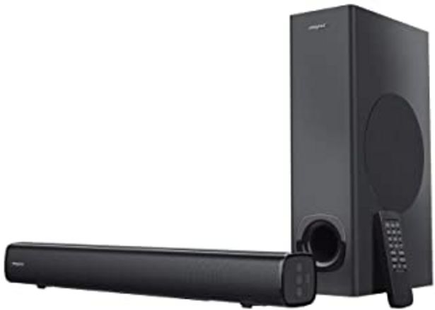 Oferta de CREATIVE Stage 2.1 - Barra de Sonido con subwoofer para TV, Ordenador y Pantallas de Ultrawidee, Bluetooth/Entrada 贸ptica/... por 79,49鈧�