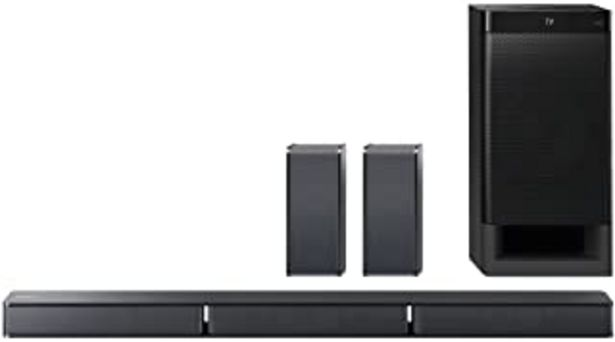 Oferta de Sony HTRT3 - Barra de Sonido (5.1 Canales con Altavoces Traseros, Bluetooth, Amplificador Digital S-Master) por 229€