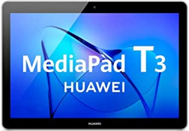 Oferta de Huawei Mediapad T3 10 Tablet Wi-Fi, CPU Quad-Core A53, 32 GB, 2 GB de RAM, pantalla de 10 pulgadas, gris por 129€