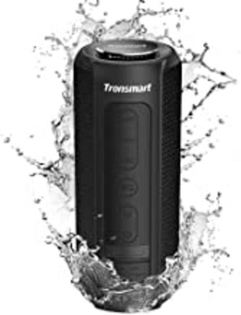 Oferta de Tronsmart T6 Plus Altavoces Bluetooth 40W, Altavoz Portatiles Waterproof IPX6 con Powerbank, 15 Horas de Reproducción, Sonido Estéreo TWS, Efecto de Triple Bajo, Speaker Bluetooth 5.0 y Manos Libres por 56,09€