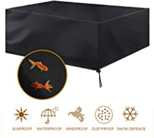 Oferta de MORIASTER Funda Protectora para Muebles de jardín Funda Muebles Exterior Impermeable Anti-UV Protección Cubierta de Muebles de Mesas 210D Oxford Negro por 19,99€