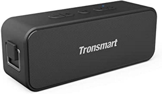 Oferta de Tronsmart T2 Plus Altavoz Bluetooth 20W, Altavoz Portátil Impermeable IPX7, 24 Horas de Reproducción, Sonido Estéreo TWS, Bluetooth 5.0, Asistente de Voz y Manos Libres para Hogar, Playa, Viajes por 31,99€