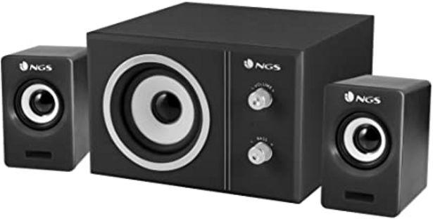 Oferta de NGS Sugar - Sistema de sonido 2.1 con subwoofer y 2 altavoces por 22,78€