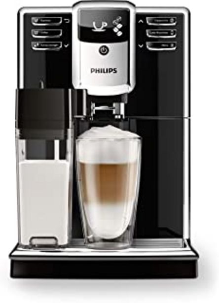 Oferta de Philips Serie 5000 EP5360/10 - Cafetera Súper Automática, 6 Bebidas de Café, Jarra de Leche Integrada, Limpieza Automática, Molinillo Ceramico por 434,99€