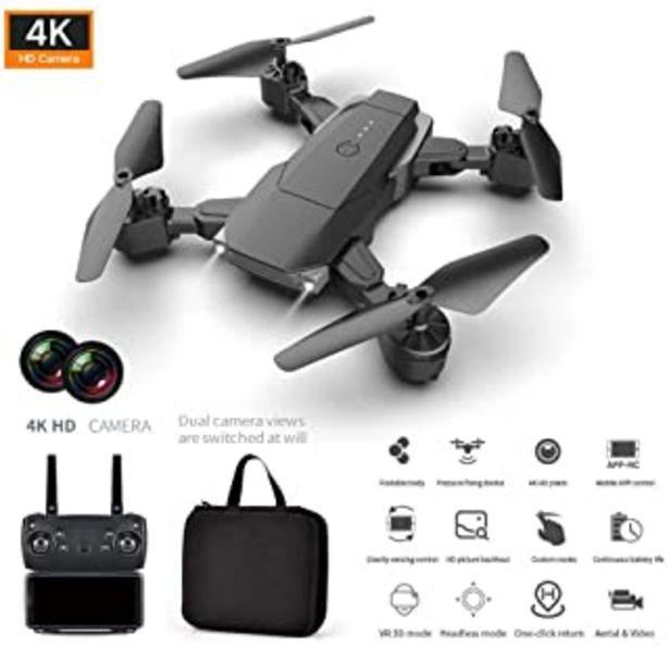 Oferta de HD 4K Droni, K2 C谩mara dual Quadcopter Altitud de alta resistencia Hold HD 4K Fotograf铆a a茅rea Drone plegable Control remoto Aviones, Droni por 31,79鈧�