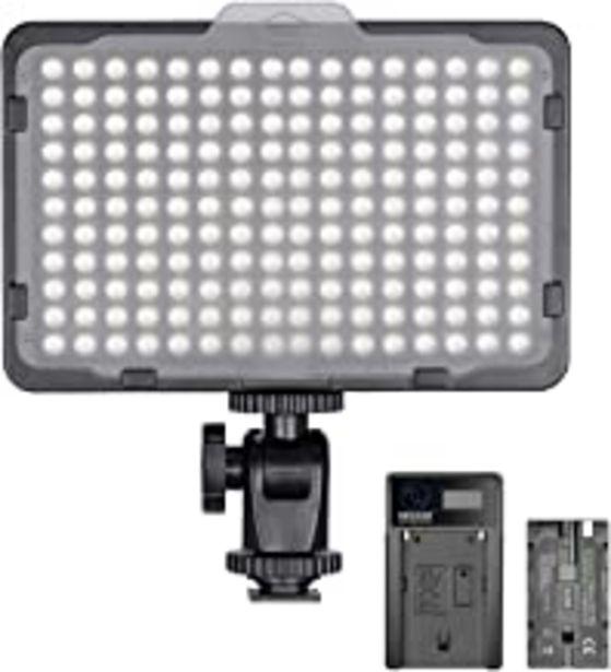 Oferta de Neewer Regulable 176 LED Luz de Video 5600K en Panel de Luz de Cámara con 2200mAh Batería y Cargador USB para Canon, Nikon, Pentax, Panasonic, Sony y Otras Cámaras Digitales SLR para Fotografía por 29,69€
