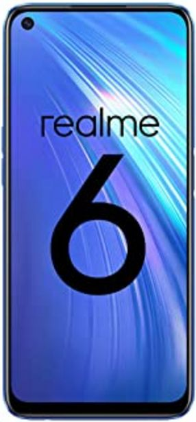 "Oferta de Realme 6 – Smartphone de 6.5"", 8 GB RAM + 128 GB ROM, Procesador OctaCore, Cuádruple Cámara AI 64MP, Dual Sim, Color Comet... por 229€"