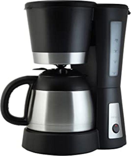 Oferta de Tristar CM-1234 Cafetera Acero Inoxidable y Capacidad para 1 litro, para hasta 10 Tazas de café, 800 W, Filtro extraíble, ... por 42,12€