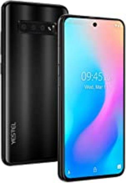 Oferta de YESTEL Note 10 Smartphone 4G Pantalla desbloqueada 6.41 Pulgadas Android 9.0 Certificado por Google GMS: SIM SD 8 Core | 4GB RAM+64GB ROM | Doble cámara 13MP+8MP | Batería 4150 mAh-Midnight Black por 101,13€