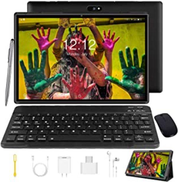 Oferta de 4G Tablet 10 Pulgadas Tablet PC con Teclado, Android 9.0 Pie Tableta, 3 GB RAM + 32 GB ROM / 128 GB Escalable, Quad Core, ... por 99,99€