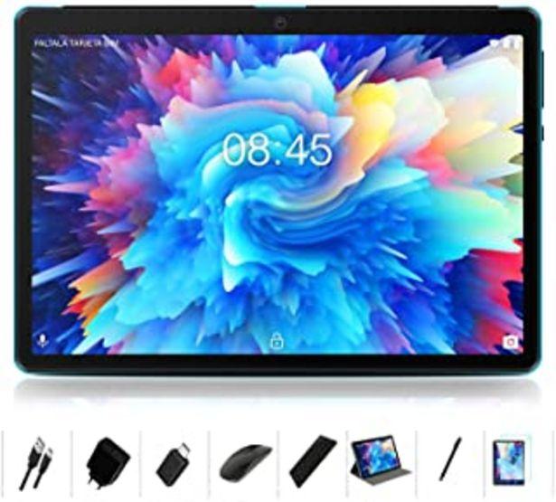 Oferta de MEBERRY Tablet 10 Pulgadas Android 10.0 Ultrar-Rápido Tablets 4GB RAM+64GB ROM - Certificación Google gsm - Dual SIM - 800... por 115,98€