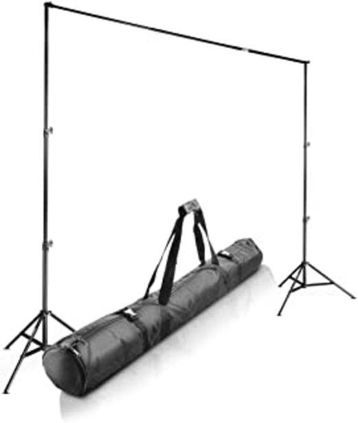 Oferta de Walimex Pro Teleskop - Soporte telescópico para Fondo fotográfico (120-307 cm), Color Negro por 90,28€