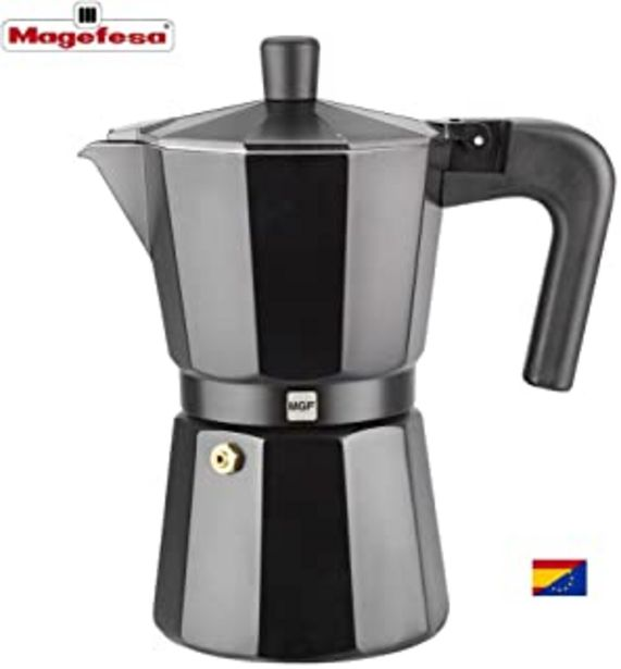 Oferta de M MAGEFESA - Cafetera Modelo Kenia de Aluminio Grueso (3 Tazas) por 7,9€