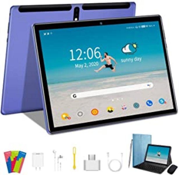 Oferta de Tablet 10 Pulgadas, Tablet Android 9.0 Pie, Quad Core, 64GM ROM, 4GB RAM, Tablet 5MP + 8MP/WiFi/Bluetooth/GPS/OTG/Soporte ... por 109,99€