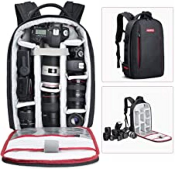 Oferta de BESCHOI - Mochila para cámara réflex Digital, Impermeable, para cámaras de Fotos Sony, Canon, Nikon, Olympus SLR/DSLR, Lentes y Accesorios, Color Negro (Grande) por 52,99€