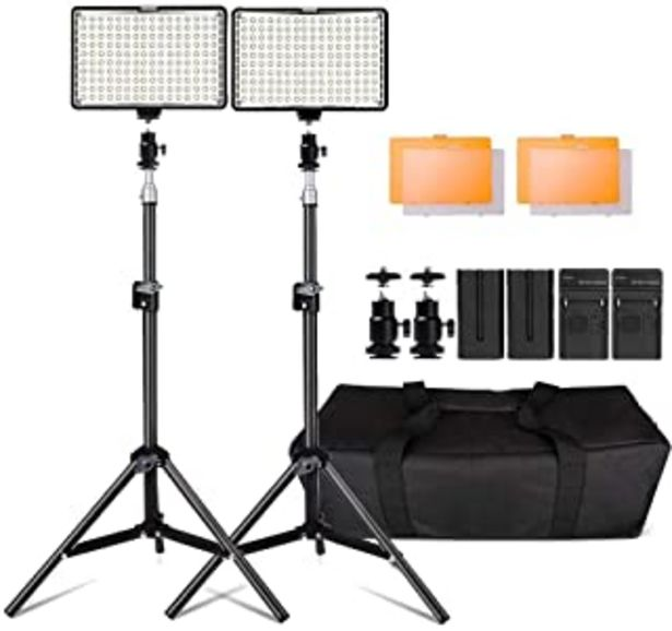 Oferta de Kit de LED Iluminación,Yeeteem 160 Regulable Ultra High Power Panel Cámara Digital / Videocámara Video Light con Soporte d... por 89,99€