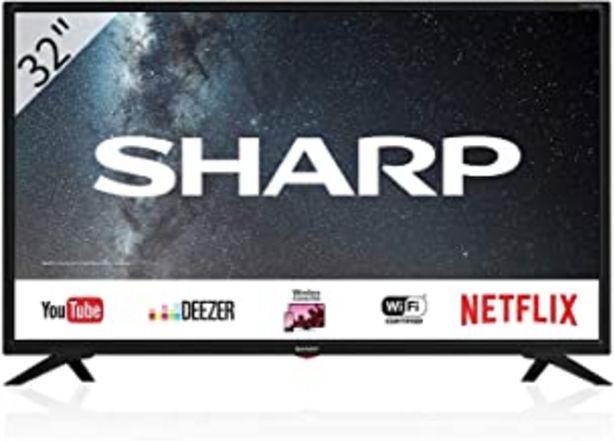 """Oferta de Sharp 32BC3E - Smart TV de 32"""" (resolución 1368 x 720, 3x HDMI, 2x USB) color negro por 175€"""