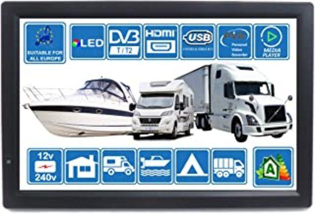 Oferta de Autocaravana Caravana Barco Cocina 12 voltios 14 Pulgadas LED TV Digital HD DVB-T2. TDT y Toda la televisión de Europa. 12... por 154,83€
