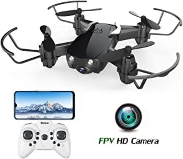 Oferta de EACHINE E61HW, Mini Drone para Niños con Cámara, RC Quadcopter 2.4G 6 Ejes Control de Altitud, Modo sin Cabeza, Control Re... por 32,99€