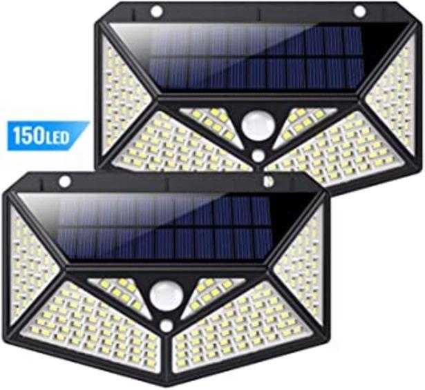 Oferta de Luz Solar Exterior 150 LED, kilponen [Versión Innovadora 2200mAh] Foco Solar Potente con Sensor de Movimiento y 3 Modos de... por 19,12€
