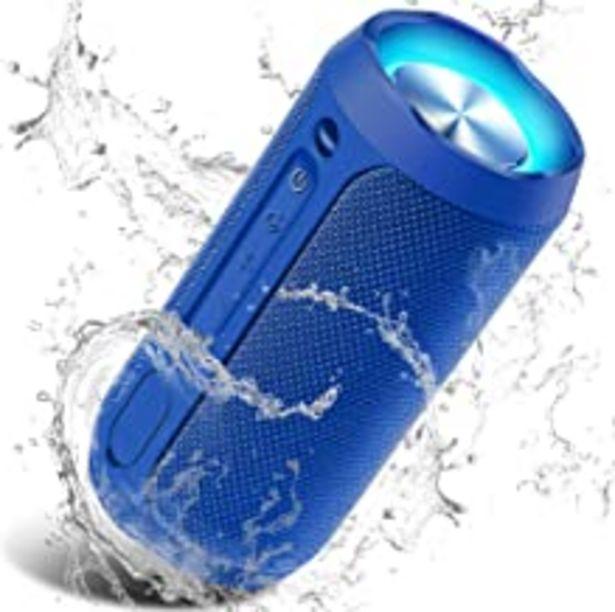 Oferta de Altavoz Portátil Bluetooth, 24W Impermeable IPX7 Sonido Estéreo TWS, Construido en Micrófono y Manos Libres, Bluetooth 5.0 + AUX Play, Altavoz inalámbrico Portátil - Azul por 39,09€