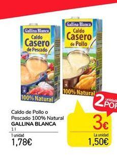 Oferta de Caldo casero Gallina Blanca por 1,78€