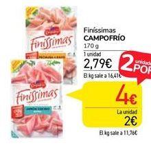 Oferta de Finissimas Campofrío por 2,79€