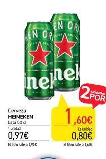Oferta de Cerveza Heineken por 0,97€