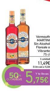 Oferta de Vermouth sin alcohol floreale o Vibrante Martini por 11,49€