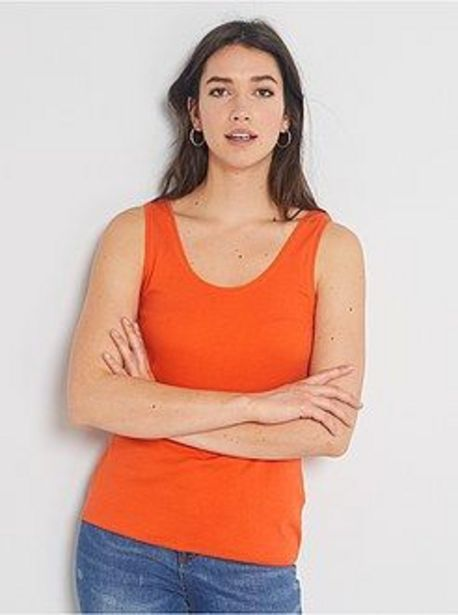 Oferta de Camiseta de tirantes cuello U por 1€