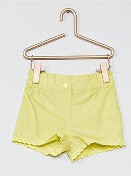 Oferta de Pantalón corto con bordado inglés por 3€