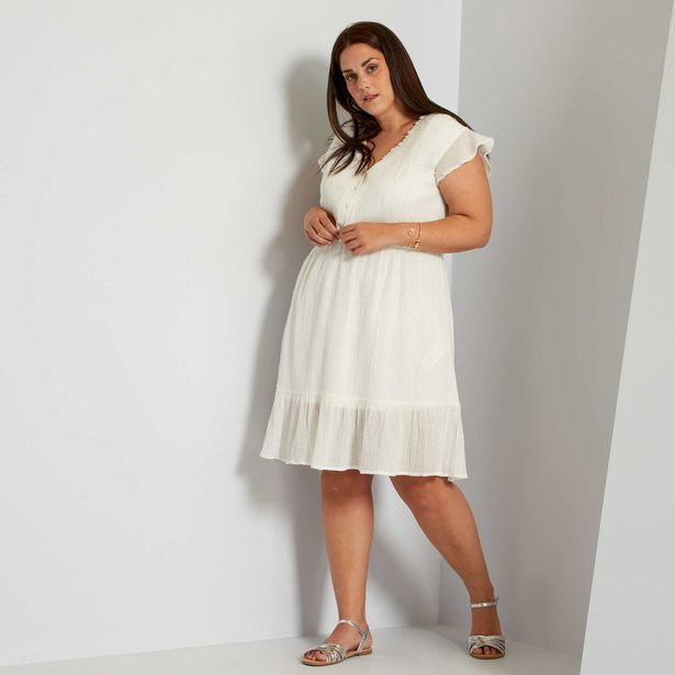 Oferta de Vestido corto blanco por 25€