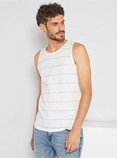 Oferta de Camiseta de tirantes de rayas por 2€