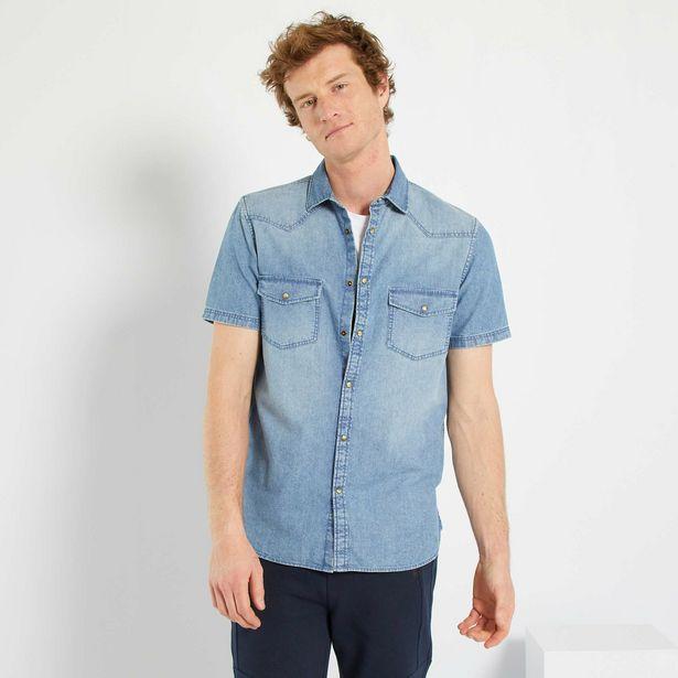 Oferta de Camisa recta en denim desgastado por 9€