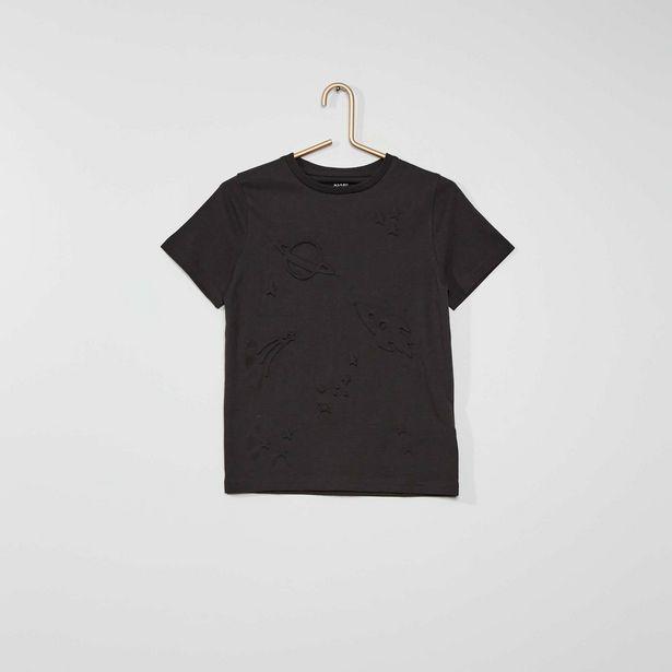 Oferta de Camiseta con motivos con relieve por 3€