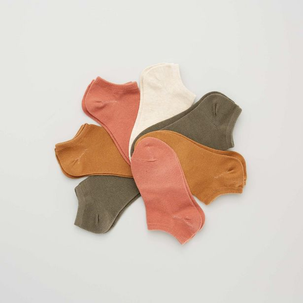 Oferta de Pack de 7 pares de calcetines invisibles por 4€