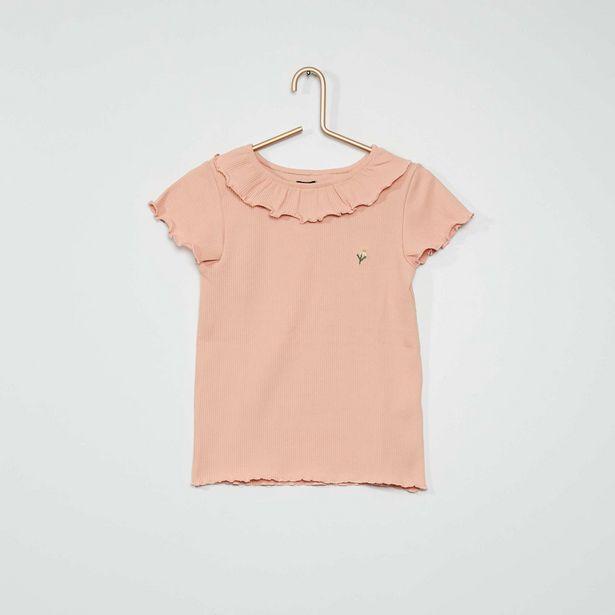 Oferta de Camiseta de canalé de 'flor' por 4€