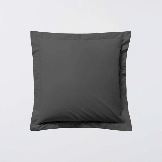 Oferta de Funda de almohada lisa con volante plano por 5€