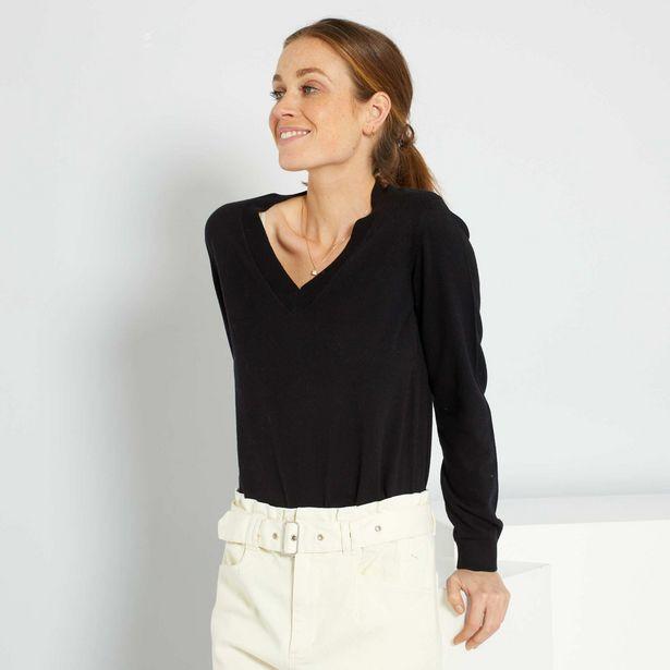 Oferta de Jersey básico con cuello de pico por 10€
