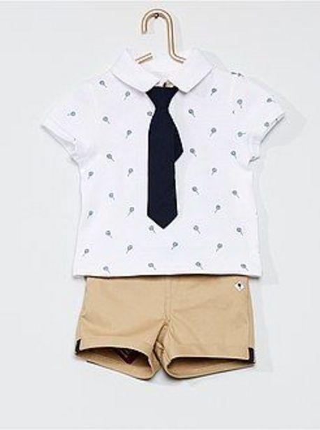 Oferta de Conjunto de polo + pantalón corto + corbata por 8€