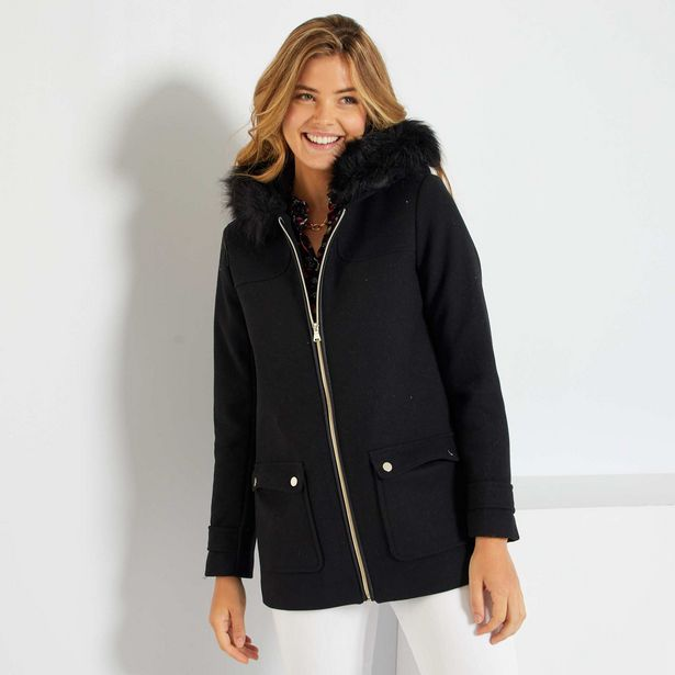 Oferta de Abrigo de lana con capucha por 40€