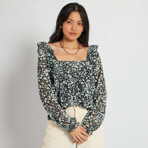 Oferta de Blusa con escote cuadrado por 10€