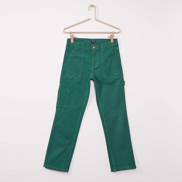 Oferta de Pantalón corte slim estilo 'worker' por 5€