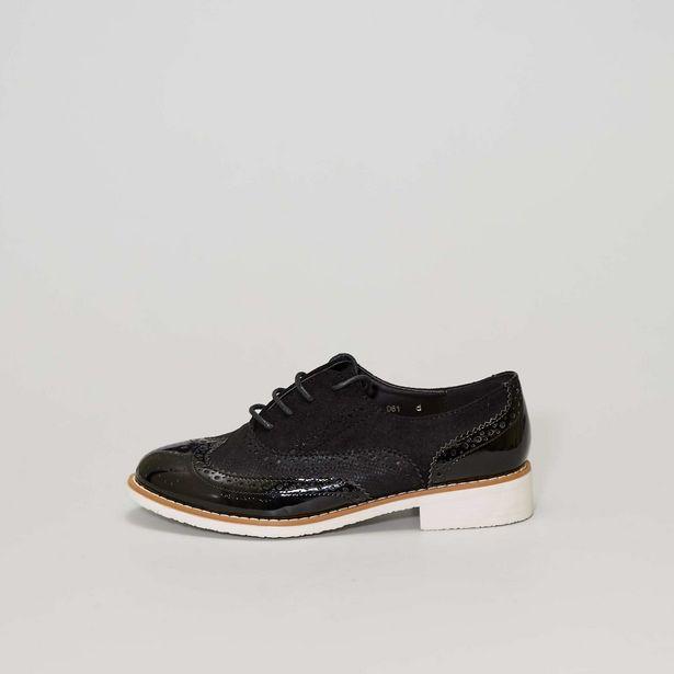 Oferta de Zapatos derby en dos materiales por 6€