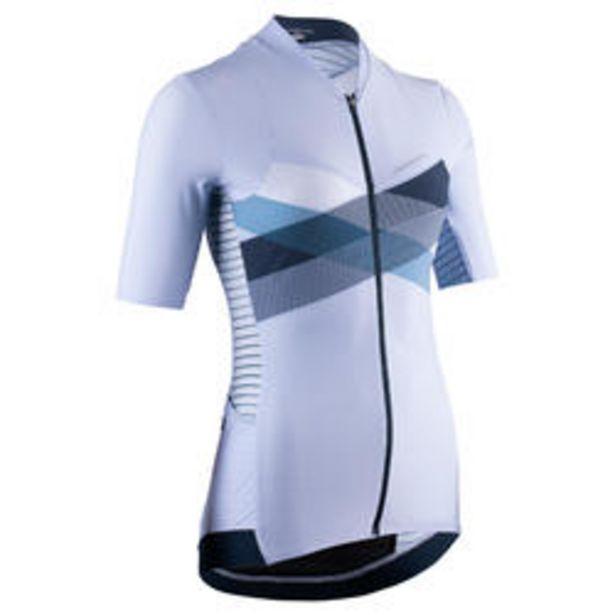 Oferta de Maillot ciclismo MANGA CORTA mujer VAN RYSEL EDR cruz azul por 26,99€