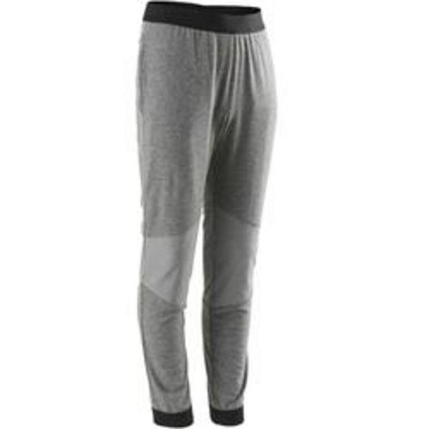 Oferta de Pantalón algodón transpirable resistente Slim ligero 500 niño GYM INFANTIL gris por 7,99€