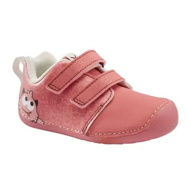 Oferta de Zapatillas Bebé Primeros Pasos Domyos 505 I Learn rosa Tallas 20 a 24 por 9,99€