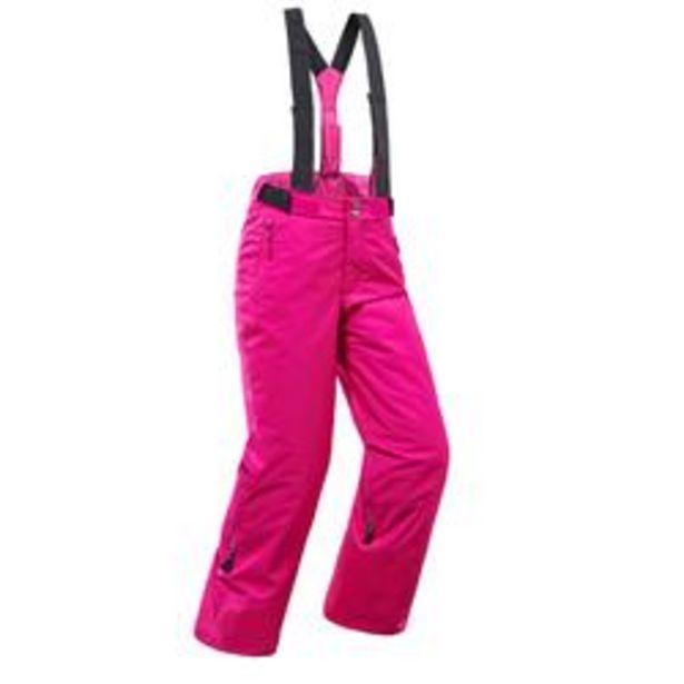 Oferta de Pantalones de Esquí y Nieve Niños Wedze Ski-P 500 Rosa por 19,99€